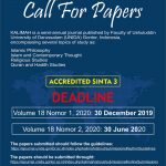 Call for Paper Kalimah Journal Vol. 18