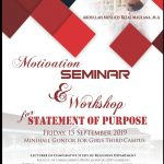 Seminar Motivasi Beasiswa dan Workshop Statement of Purpose